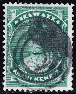 US HAWAII STAMP #42 1883-86  1C USED  STAMP