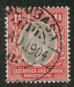 East Africa and Uganda protectorates  Scott 18 KEVII 1904