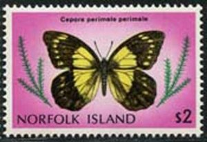 Norfolk Island 1976 Butterfly set Sc# 201-17 NH