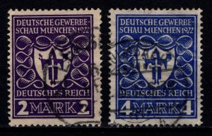 Germany 1922 Munich Exhibition, Part Set [Used]