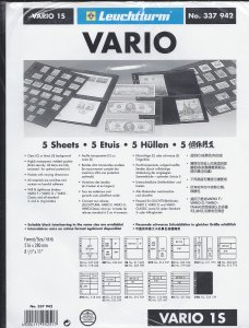 LEUCHTTURM, LIGHTHOUSE, VARIO 1S, BLACK,  STOCK PAGES, NEW, SHIP $2.75