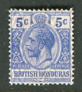 BRITISH HONDURAS; 1915-16 early GV issue fine Mint hinged 5c. value