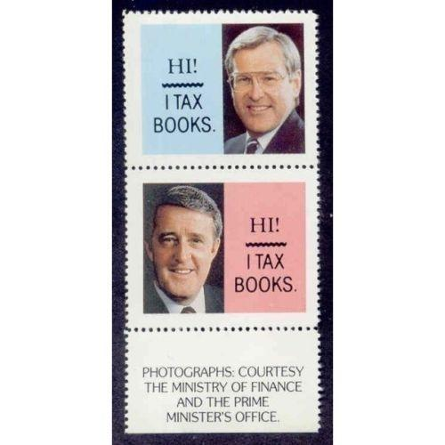 Canada - Anti Book Tax Political Protest Stamps (#2)