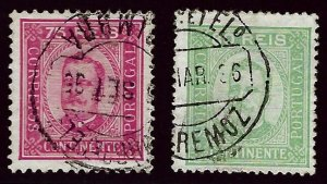 Portugal  SC#73-74a Used F-VF SCV$58.00...Worth a Close Look!
