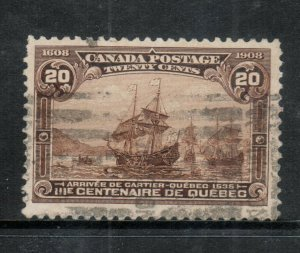 Canada #103i Very Fine Used Major Reentry **With Certificate**