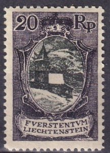 Liechtenstein  #62  F-VF Unused  CV $70.00 (Z3151)