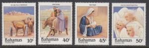 Bahamas 659-62 Christmas mnh