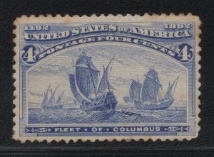 US Stamp Scott #233 Mint Previously Hinged SCV $50