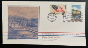 US #2348 FDC + #1132 - Bicentennial of Constitution 1787-1987 [BIC86]