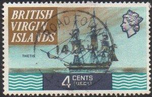 British Virgin Islands 1970 4c Thetis, 1827 used