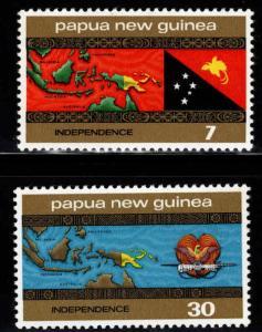 PNG Papua New Guinea Scott 423-424 MNH** Map set