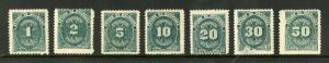 NICARAGUA J29-J35 MH SCV $1.75 BIN $1.25 NUMERICAL DENOMINATIONS