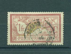 French Offices Egypt Alexandria sc# 28 used cat val $4.25