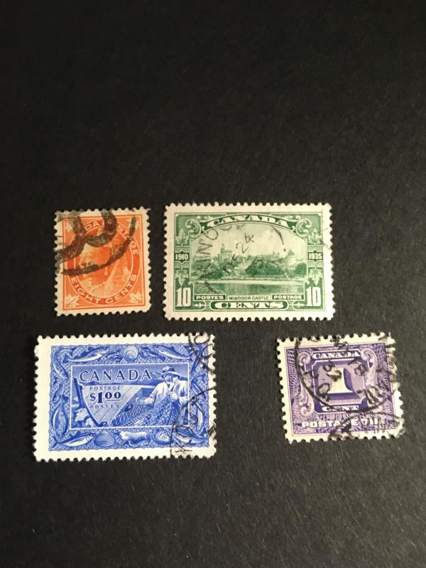 Canada 1897/1951 Used Four Better Values In Nice Condition #72&215 VF,302F+&J6VF