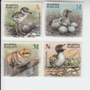 2018 Belarus Chicks (4) (Scott 1073-76) mnh