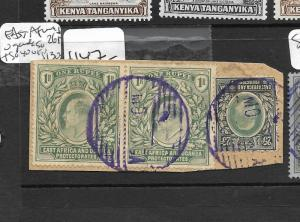 EAST AFRICA  AND  UGANDA  (P0609B) KE PIECE 1RX2+25C SG 26X2+40 VFU