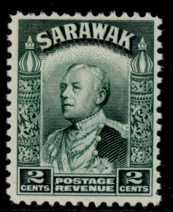 SARAWAK GV SG107, 2c green, M MINT.