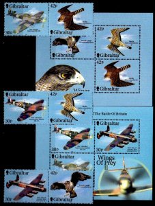 Gibraltar 2000 # Fighter Plane Raptors set + S/Sheets # 851-853d