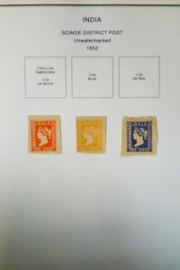 India Rather Complete 1800s to 2005 Massive Stamp Collection