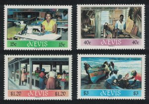 Nevis Fishing Clothing Agriculture Local Industries 4v 1986 MNH SG#402-405