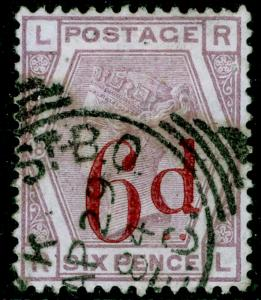 SG162, 6d on 6d lilac plate 18, FINE USED, CDS. Cat £150. RL