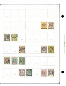 Straits Settlements (Malaya) Mint(11) & Used(20) Hinged on Scott Int. Blank Page