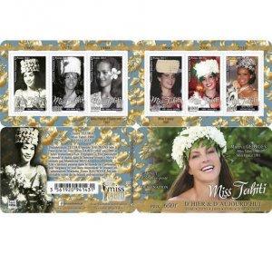 2021 French Polynesia Miss Tahiti Bklt 6 (Scott NA) MNH