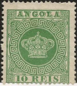 Angola, Scott #10, Unused, Hinged