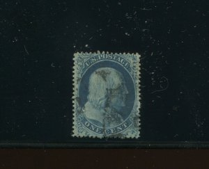 Scott #20 Franklin Type II Used Stamp (Stock 20-1)
