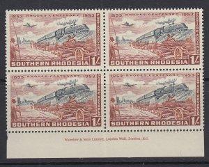 Southern Rhodesia, Scott 78 (SG 75), MNH imprint block