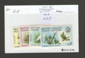 British Indian Ocean Territory 1971 Sc 39-42 set MNH