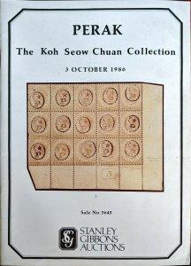 Auction Catalogue PERAK KOH SEOW CHUAN Straits Malaya Stanley Gibbons