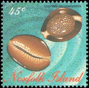 Norfolk Islands #602-605, Complete Set(4), 1996, Seashells, Never Hinged