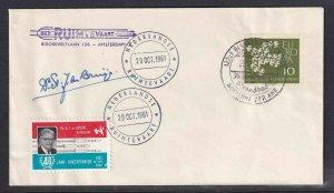 GERMANY ROCKETMAIL COVER SIGNED BY DESIGNER BRUGGE 29. OCTOBER 1961 VF