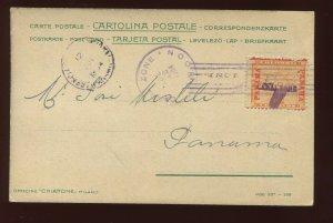 Canal Zone 3 Overprint Used Stamp On Nice Usage to Panama Post Card  (CZ3-AC1)