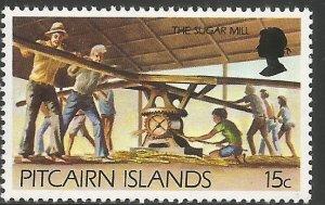 PITCAIRN ISLANDS 168A MNH, SUGAR MILL