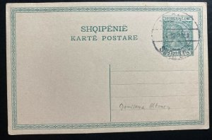 1918 Vlone Albania postal stationery Postcard  Cover