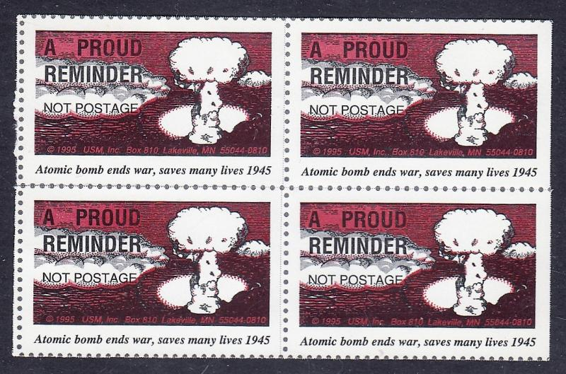 US Rescinded Postage Atomic Bomb Poster Stamps