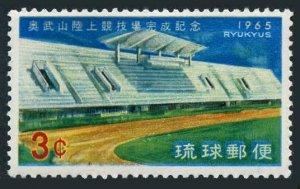RyuKyu 131 block/4,MNH.Michel 161. Main Stadium,Onoyama,1965.