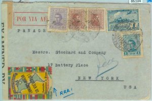 86104 - URUGUAY - POSTAL HISTORY - PROPAGANDA Poster Stamp on CENSORED  COVER