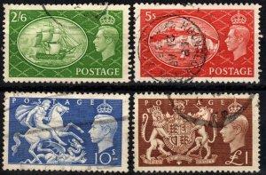 Great Britain #286-9  F-VF Used CV $25.00 (X5434)