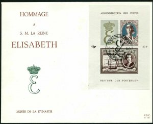 Belgium B789-B790 two FDC.Mi Bl.34-35. Queen Elizabeth,1966.Health care,Music.