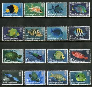 British Virgin Islands 284-300 MH SCV $30.75 BIN $12.50 MARINE LIFE