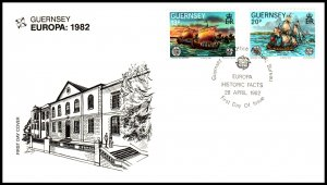 Guernsey 240-241 Europa U/A FDC