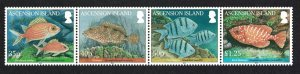 Ascension Reef Fish 1st series 4v Strip SG#1064-1067