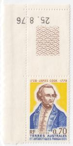 French Southern Antarctic Terr, 110, MNH, 1976, Captain Cook