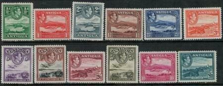 Antigua 1938-1951 SC 84-95 MNH SCV$ 105.00 Set