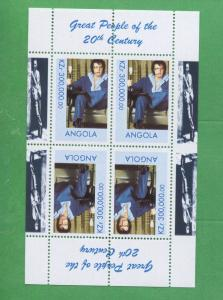 Great People of the 20th Century Elvis Angola Stamps Souvenir Sheet MNH - E9A