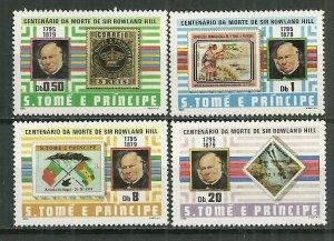 1980 St Thomas & Prince 573-6 Sir Rowland Hill C/S MNH SCV$8.80