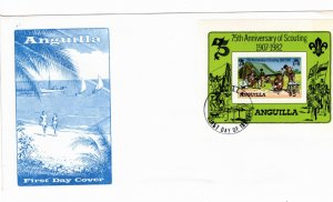 Anguilla 1982 Sc 506 Souvenir Sheet Perforate FDC